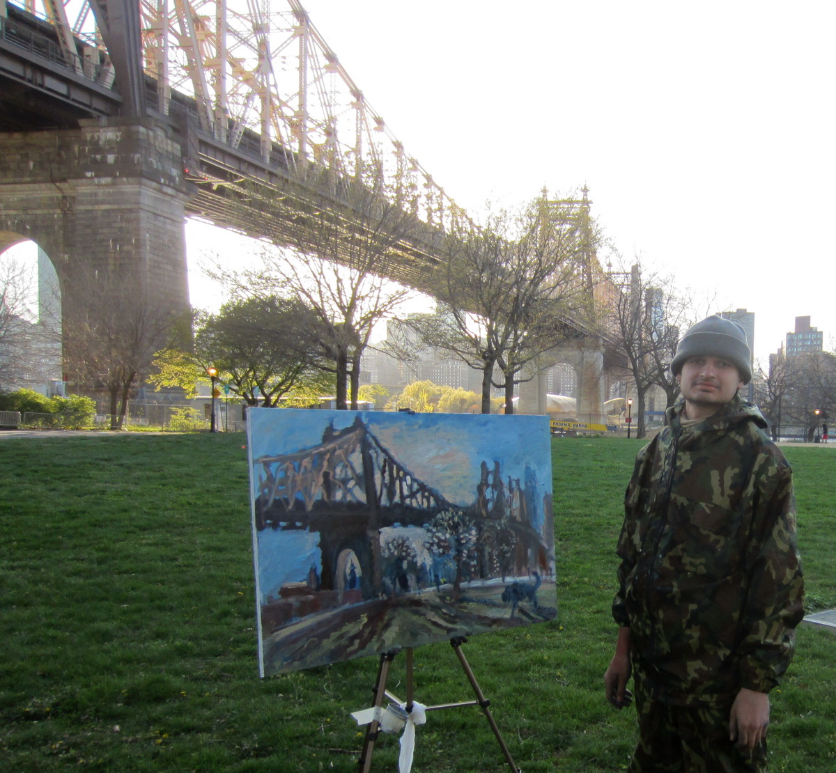 Painting Blue Dog Blue Dog in New York